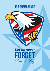 In Remembrance Let Us Never Forget Patriots Day Poster
