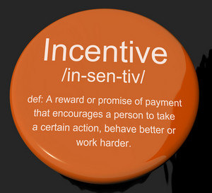 Incentive Definition Button Showing Encouragement Enticing And Motivation