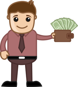 Income Growth - Affiliates Money - Vector Illustration