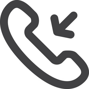 Incoming Call Stroke Icon