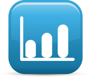 Increasing Graph Elements Glossy Icon