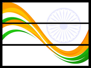 Indain Flag Background. Vector Illustration In Eps 10 Format.