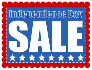 Independence Day Sale Banner Coupon Vector