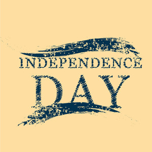 Independence Day Text On Isolated Brown Background