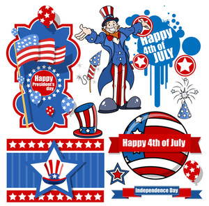 Independence Day Vector Designs Set