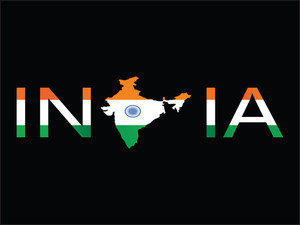 India Isolated On Black