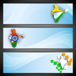 India Map Design In Flag Tri Colors