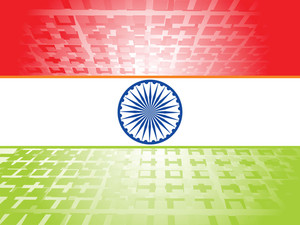 Indian Flag Halftone Vector