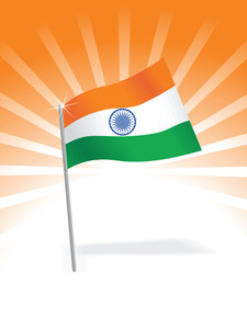 Indian Flag Isolated On Nice Background