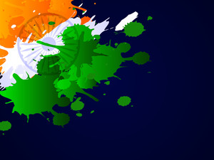 Indian Flag Theme Background With Grungy Tri Color Effects On Dark Blue Backgground For Republuc Day