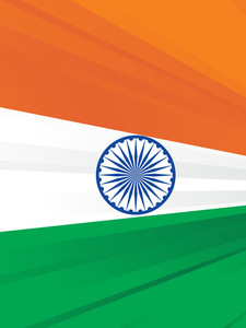 Indian Flag Vector Halfton