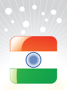 Indian Glossy Flag Vector Illustration