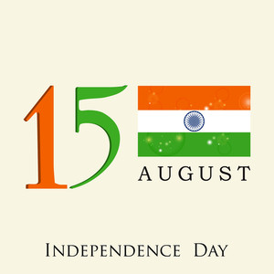 Indian Independence Day Background With Indian National Flag