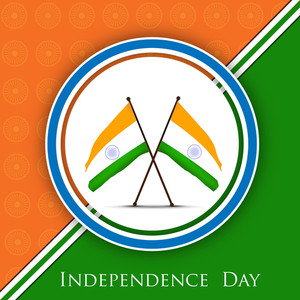 Indian Independence Day Background With National Flags