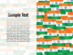 Indian Independence Day Flags Vector