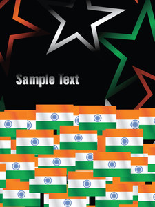 Indian Independence Day Stars And Flag