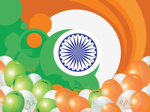 Indian Republic Day Celebration Vector With Balloon And Flag