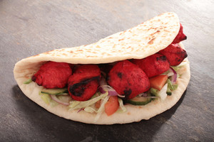 Indian Tikka Shish Doner Wrap Sandwich