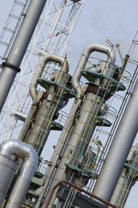 industrial refinery pipelines and pumps