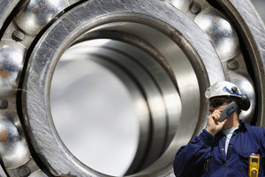 industry worker and large bearing