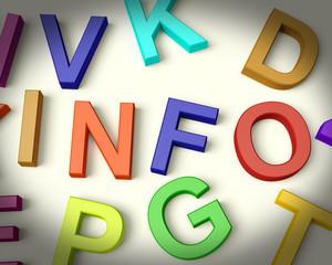 Info Written In Plastic Kids Letters
