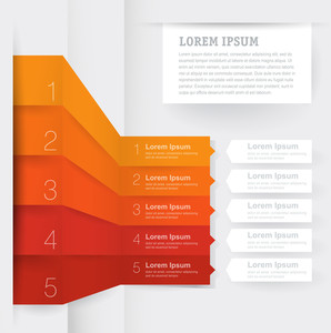 Infographic Chart Template. Vector