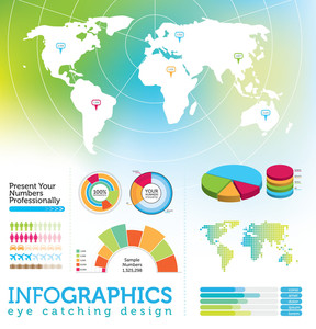 Infographic Elements - World Map And Information Graphics