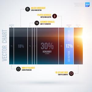 Infographics Chart Template. Eps10