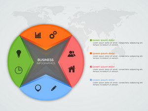 Creative infographic elements with web symbols for your Business.