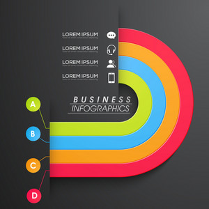 Creative colorful infographic elements layout for your Business reports and presentation.