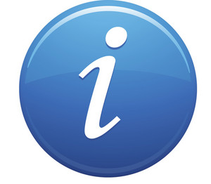 Information Blue Circle
