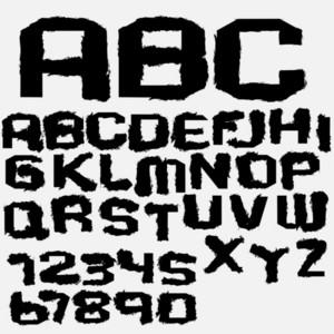 Ink Drip Alphabet