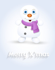 Innocent Snowman Christmas Greeting