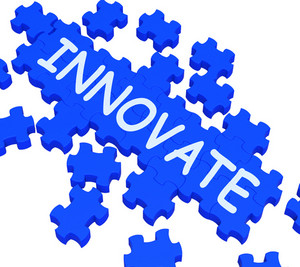 Innovate Puzzle Shows Creative Design