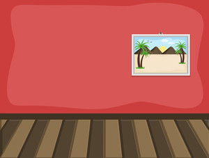 Inside Room - Cartoon Background Vector
