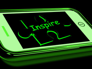 Inspire On Smartphone Showing Encouragement