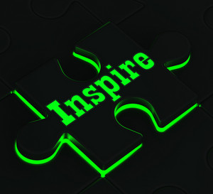 Inspire Puzzle Showing Encouragement And Inspiration
