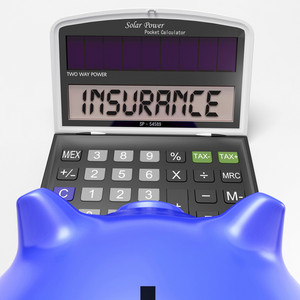Insurance Calculator Shows Protection Through Secure Policy