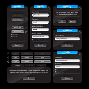 Interface Elements For Web Design. Windows