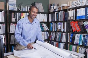 Interior design architect in office
