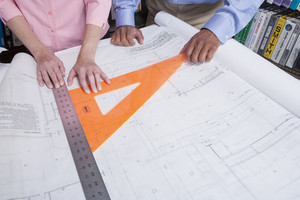 Interior design architects in office