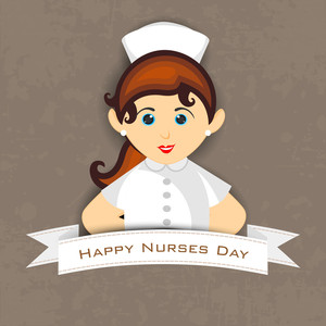 International Nurse Day Concept With Illustration Of A Nurse