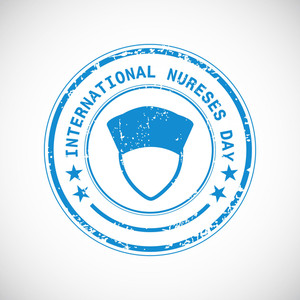 International Nurse Day Concept With Stamp