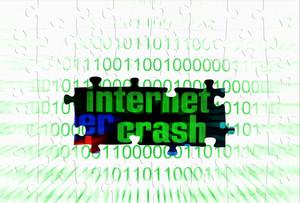 Internet Crash Puzzle Concept