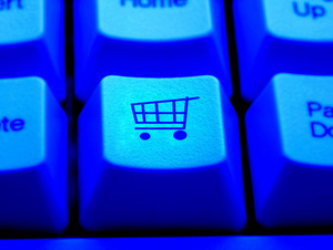 Internet Shopping Cart Payment Press Button