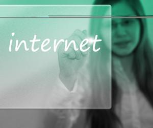 Internet Written On The Digital Wall