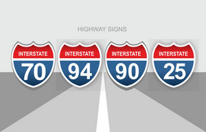Interstate Highway Signs