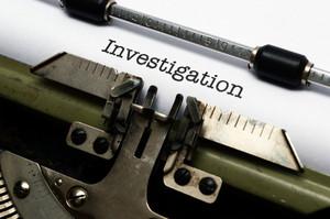 Investigation Text On Typewriter