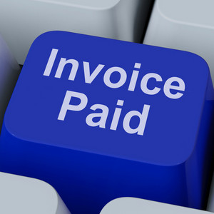 Invoice Paid Key Shows Bill Payment Made