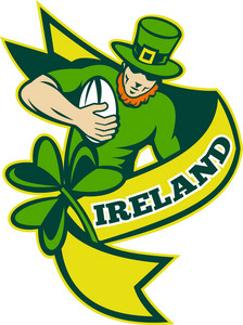 Irish Rugby Player Leprechaun Hat Shamrock